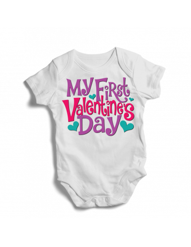 My first valentine's day, baby bodysuits