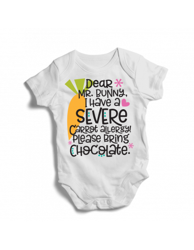 Dear Mr. bunny I have a severe carrot allergy….. Baby bodysuit