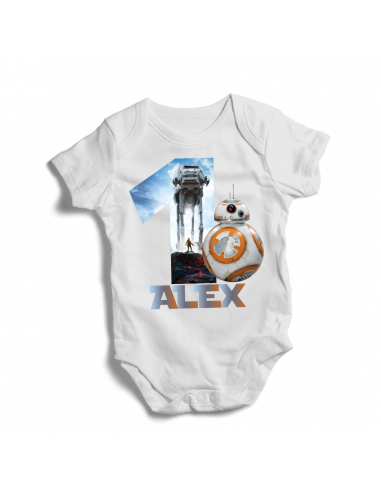 Personalised Star Wars 1st birthday, baby bodysuit