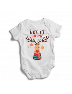 Let it snow, baby christmas bodysuit