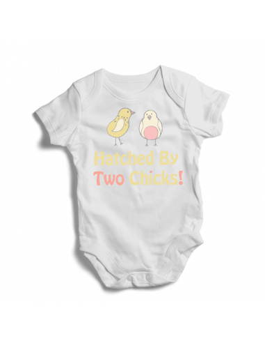 Hatched by two chicks! Baby bodysuit