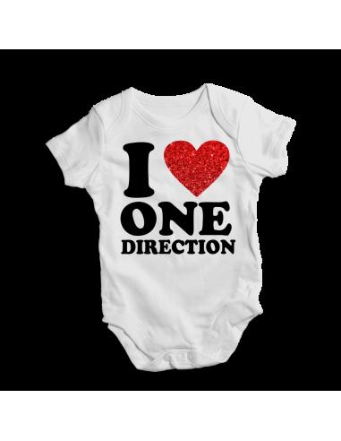 I love One direction, baby bodysuit