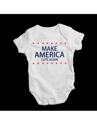 Make Amerika cute again, baby bodysuit