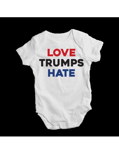 Love Trumps hate, baby bodysuit