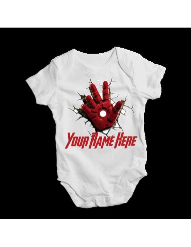 Iron man, baby bodysuit