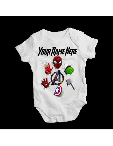 Marvel superheroe's set, baby bodysuit