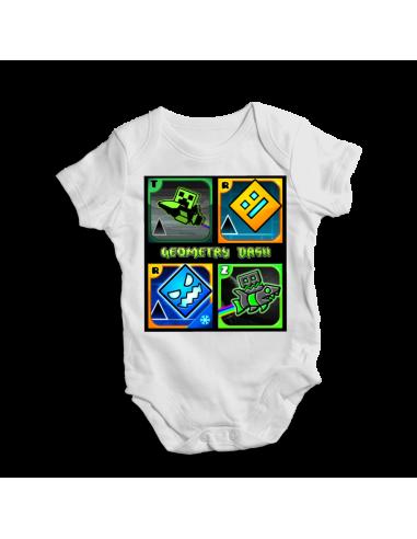 Geometry dash game, baby bodysuit