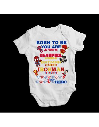Born to be superhero's, baby bodysuit