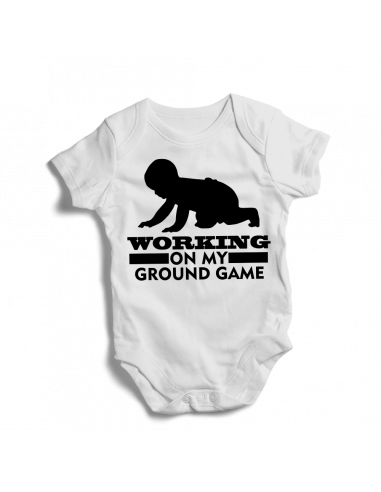 Working on my ground game, baby bodysuit
