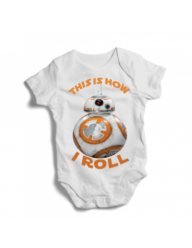 This is how I roll, BB-8 Star Wars, baby bodysuit