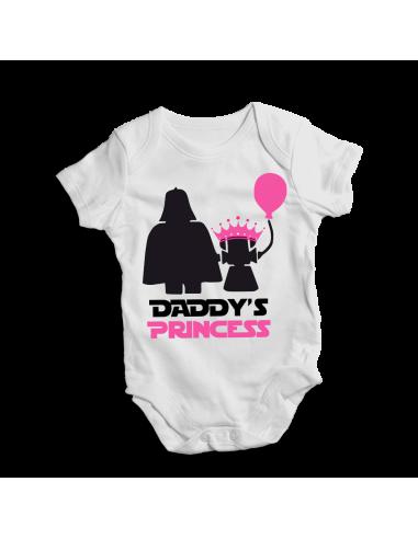 Daddy's princess, baby bodysuit