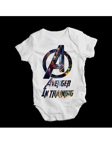 Avenger in training, tv film baby bodysuit
