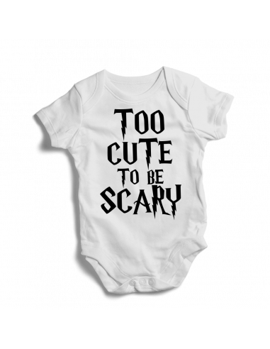 Too cute to be scary, baby bodysuit