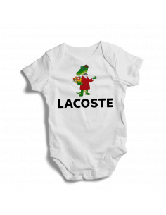 Cartoon crocodile gena Lacoste, baby bodysuit
