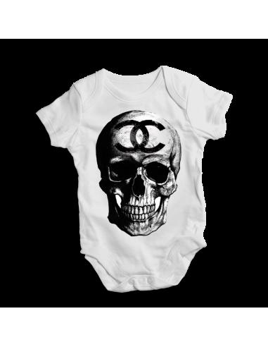 Chanel skull, baby bodysuit