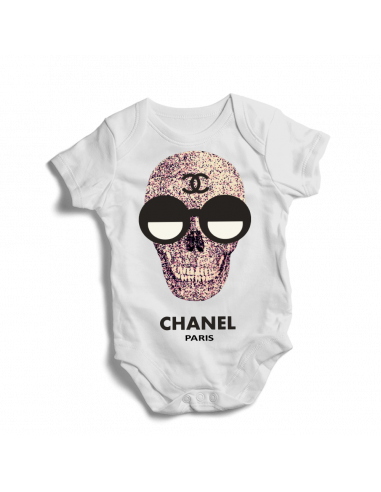 Chanel Paris skull, baby bodysuit