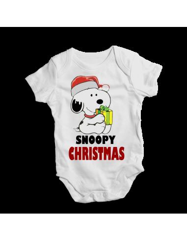 Snoopy Christmas, x-mas baby bodysuit