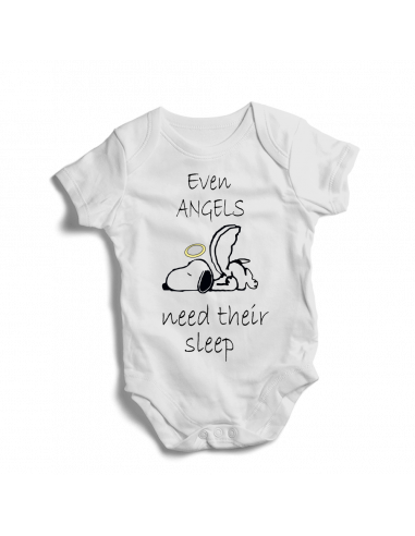 Even angels Snoopy need their sleep, baby bodysuit