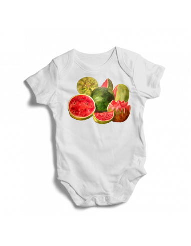 Viva La Vida Frida Kahlo, watermelons baby bodysuit / onesie
