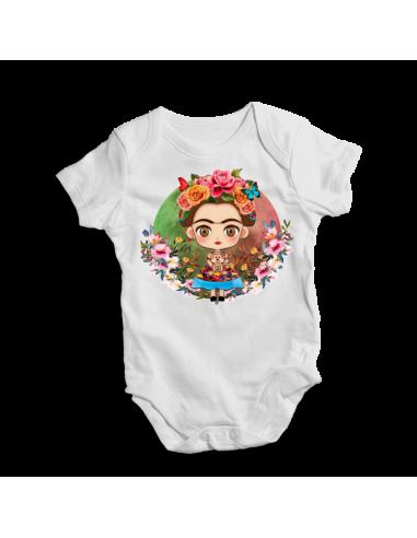 Viva La Vida Frida Kahlo,  Mexico  baby bodysuit / onesie