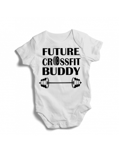 Future crossfit buddy, baby bodysuit