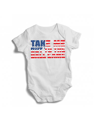 Take me out to the ball game, baby bodysuit