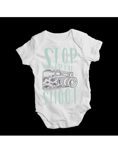 Stop or I'll shoot, baby bodysuit