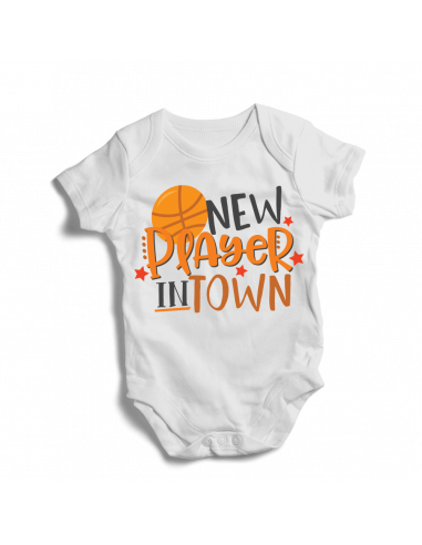New player in town, basketball bodysuit baby fan