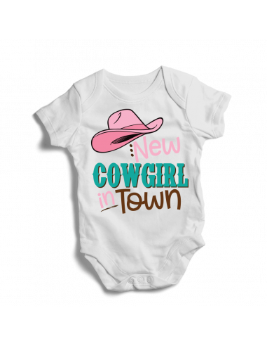 New cowgirl in town, baby bodysuit