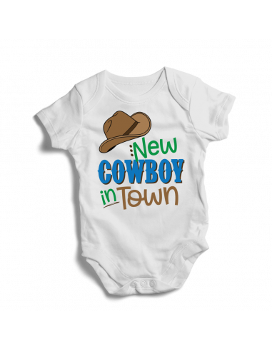 New cowboy in town, baby bodysuit