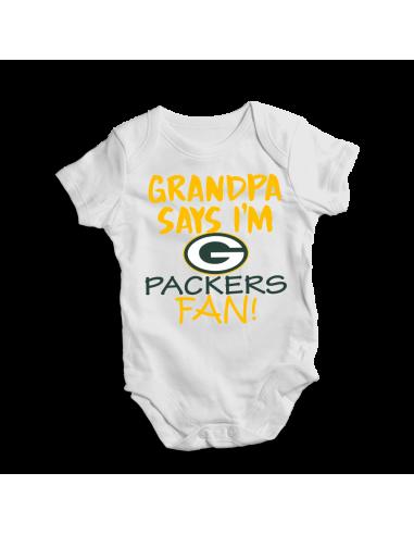 Grandpa say I'm PACKERS fan! Baby bodysuit