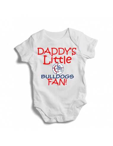 Daddy's little Bulldogs fan! Baby football fan onesie