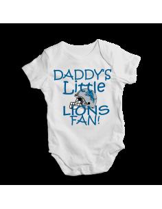 Daddy's little Lions fan! Baby football fan onesie