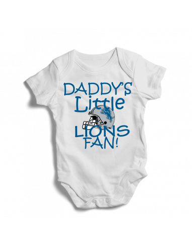 Daddy's little Lions fan! Baby football fan onesie