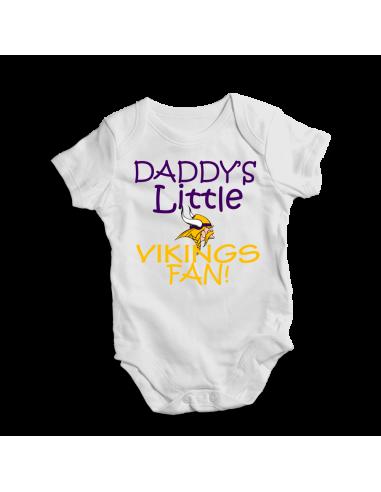 Daddy's little Vikings fan! Baby football fan onesie