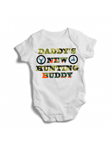 Daddy's new hunting buddy, baby bodysuit