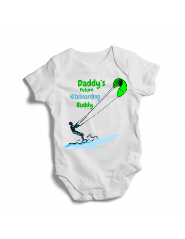Daddy's future kiteboarding buddy, baby bodysuit