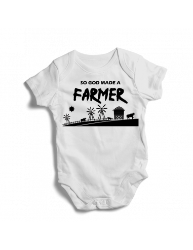 So God made a farmer, baby bodysuit